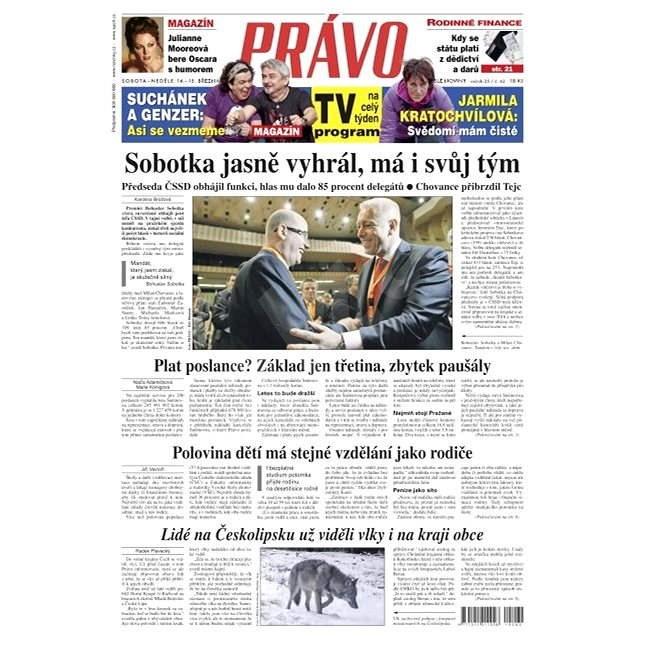 Právo - 14-03-2015 - Elektronické noviny