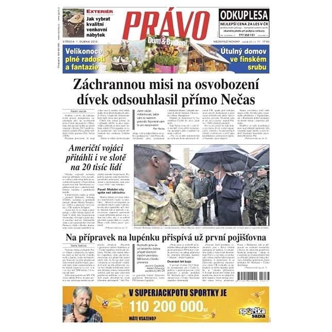 Právo - 01-04-2015 - Elektronické noviny