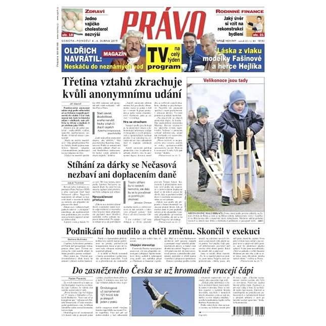 Právo - 04-04-2015 - Elektronické noviny