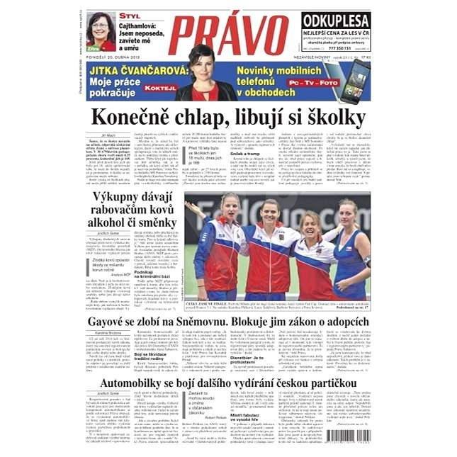 Právo - 20-04-2015 - Elektronické noviny
