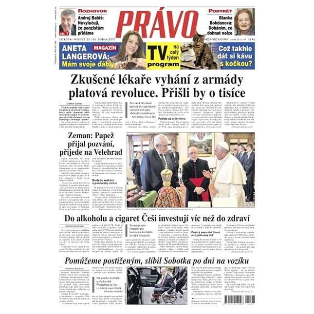 Právo - 25-04-2015 - Elektronické noviny