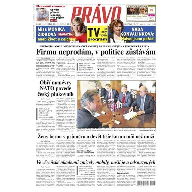 Právo - 20-06-2015 - Elektronické noviny