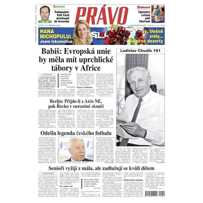 Právo - 30-06-2015 - Elektronické noviny