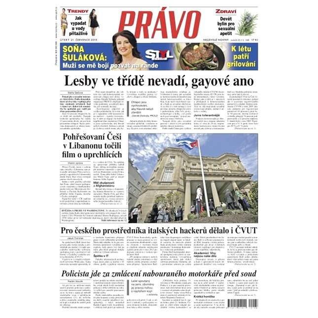 Právo - 21-07-2015 - Elektronické noviny