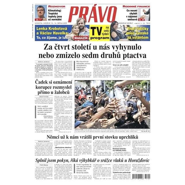 Právo - 15-08-2015 - Elektronické noviny