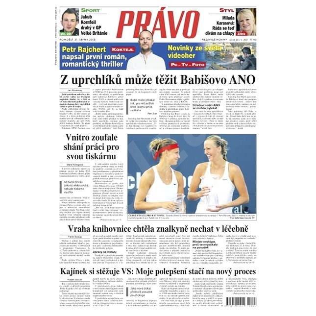 Právo - 31-08-2015 - Elektronické noviny