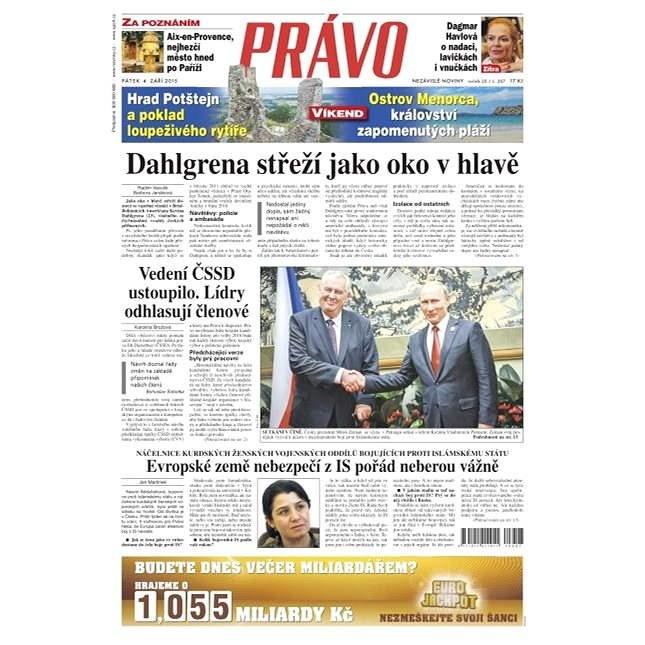 Právo - 04-09-2015 - Elektronické noviny