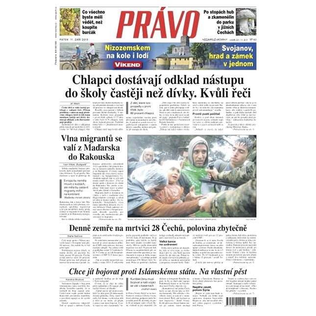 Právo - 11-09-2015 - Elektronické noviny