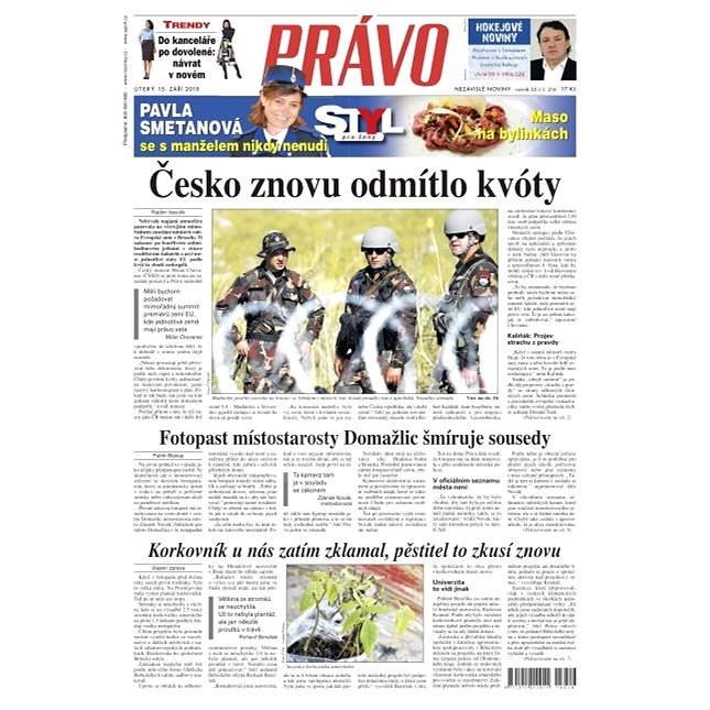 Právo - 15-09-2015 - Elektronické noviny