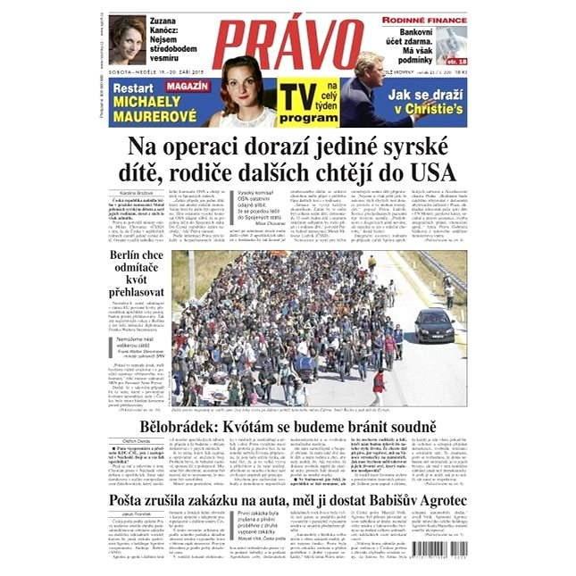 Právo - 19-09-2015 - Elektronické noviny