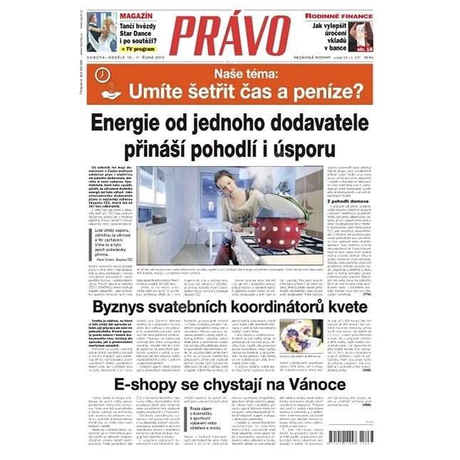 Právo - 10-10-2015 - Elektronické noviny