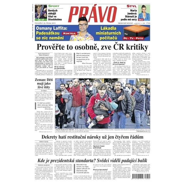 Právo - 26-10-2015 - Elektronické noviny