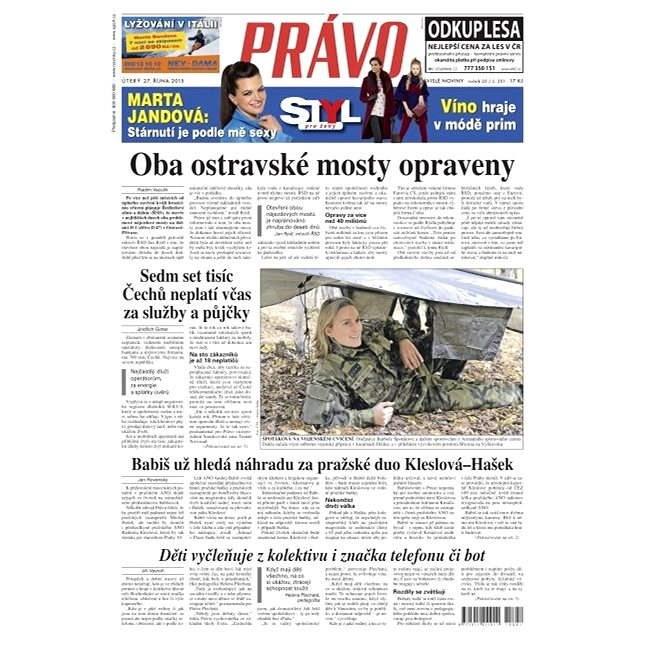 Právo - 27-10-2015 - Elektronické noviny