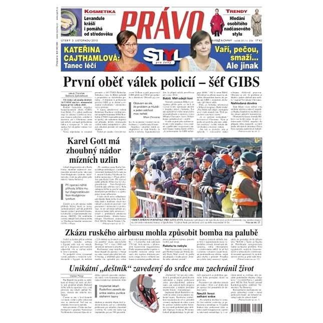 Právo - 03-11-2015 - Elektronické noviny