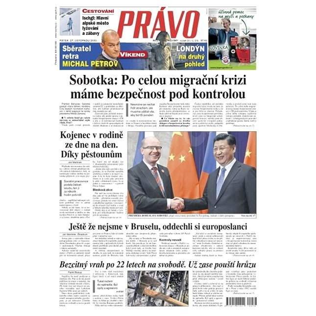 Právo - 27-11-2015 - Elektronické noviny