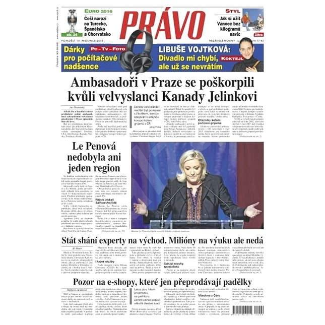 Právo - 14-12-2015 - Elektronické noviny