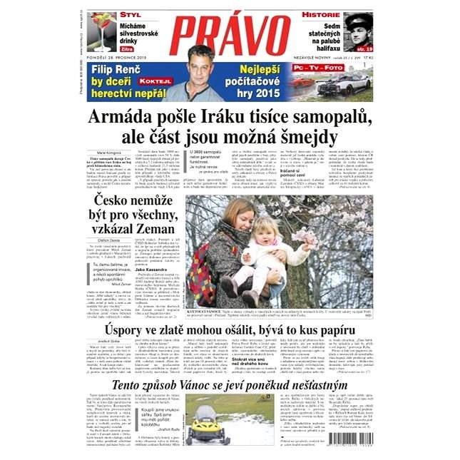 Právo - 28-12-2015 - Elektronické noviny