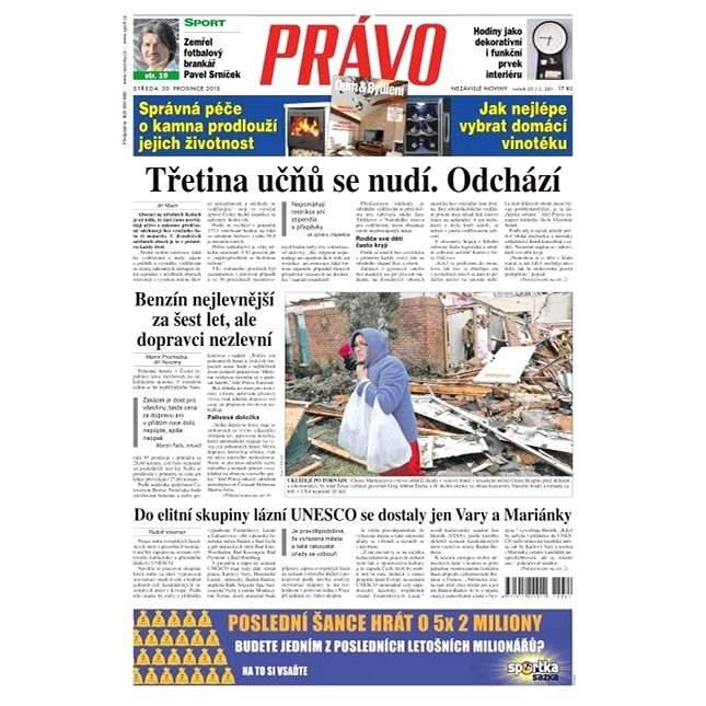Právo - 30-12-2015 - Elektronické noviny