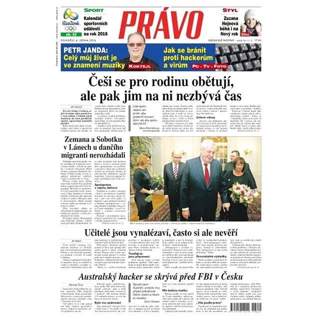 Právo - 04-01-2016 - Elektronické noviny