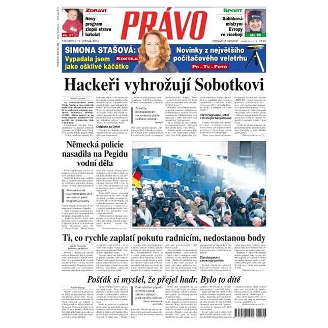 Právo - 11-01-2016 - Elektronické noviny