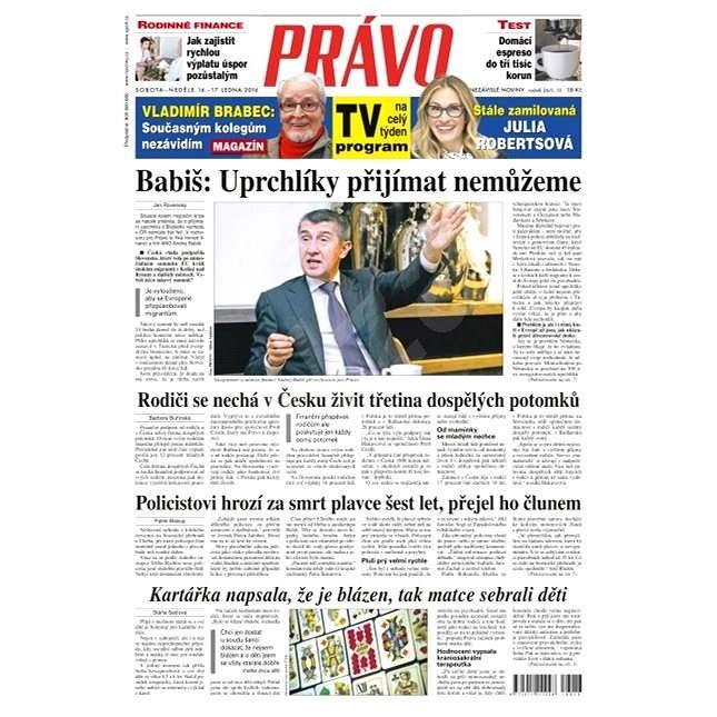 Právo - 16-01-2016 - Elektronické noviny