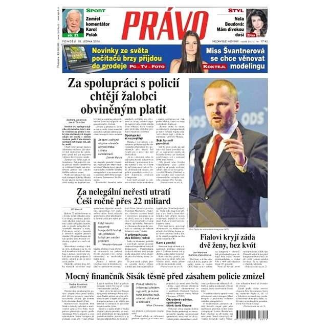 Právo - 18-01-2016 - Elektronické noviny