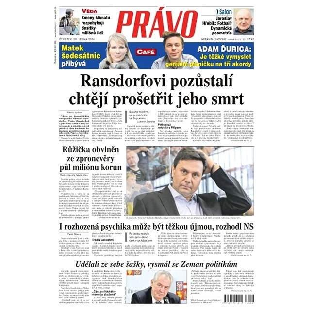 Právo - 28-01-2016 - Elektronické noviny