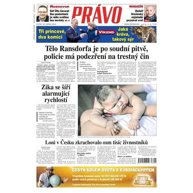 Právo - 29-01-2016 - Elektronické noviny