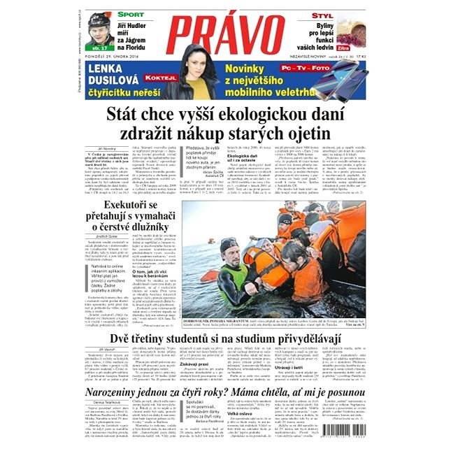 Právo - 29-02-2016 - Elektronické noviny