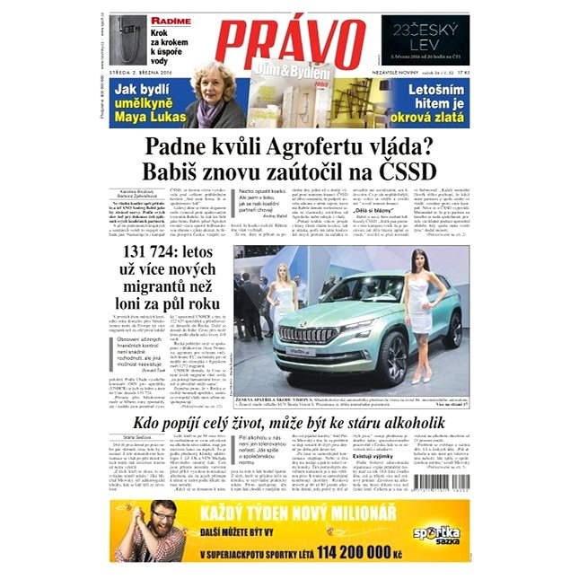 Právo - 02-03-2016 - Elektronické noviny