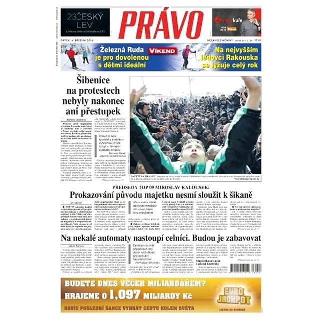 Právo - 04-03-2016 - Elektronické noviny
