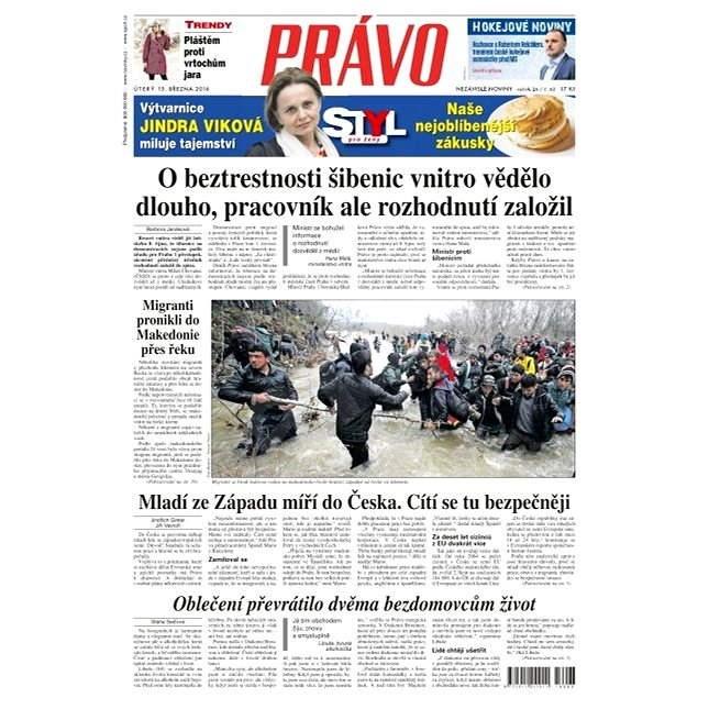 Právo - 15-03-2016 - Elektronické noviny