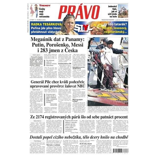 Právo - 05-04-2016 - Elektronické noviny