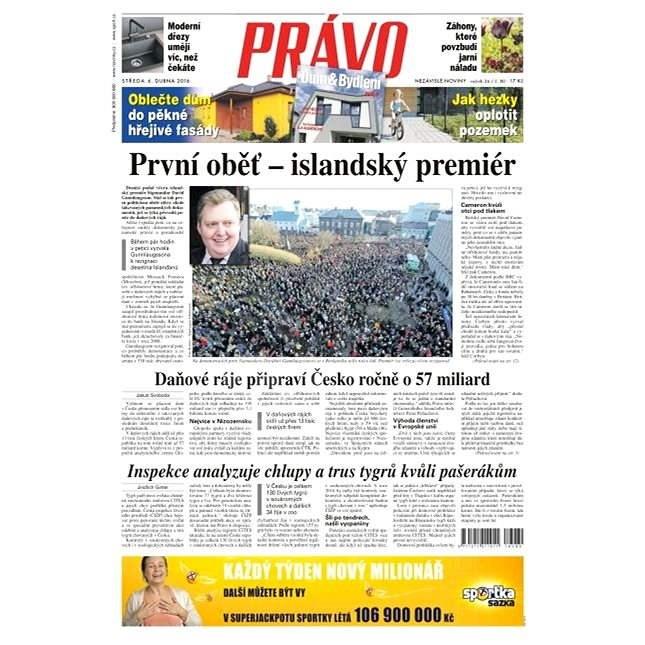 Právo - 06-04-2016 - Elektronické noviny