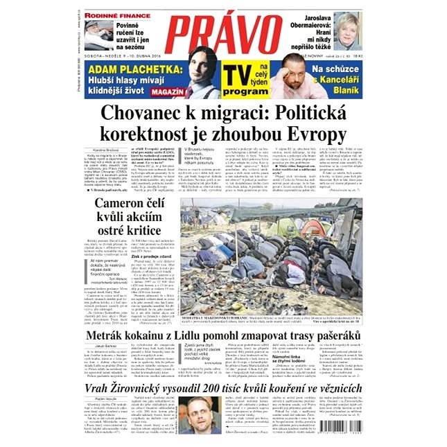 Právo - 09-04-2016 - Elektronické noviny