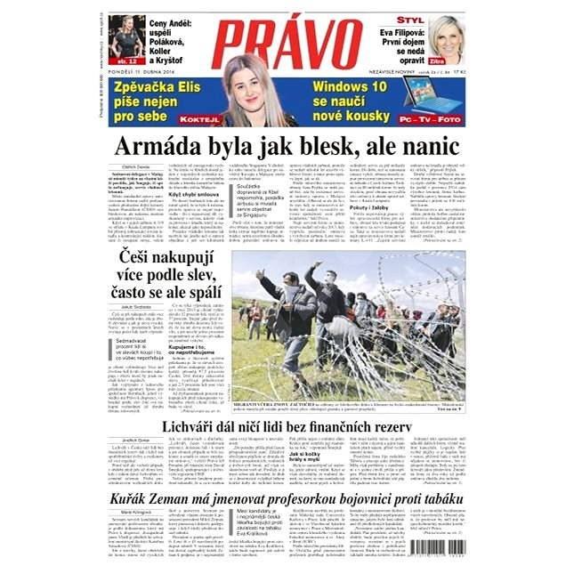 Právo - 11-04-2016 - Elektronické noviny