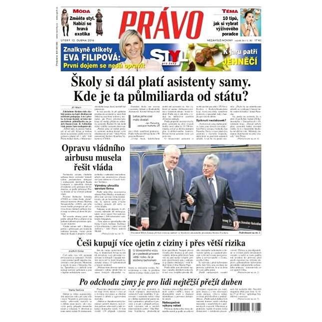 Právo - 12-04-2016 - Elektronické noviny