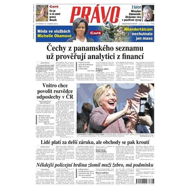 Právo - 21-04-2016 - Elektronické noviny