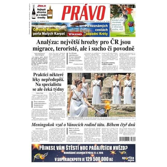 Právo - 22-04-2016 - Elektronické noviny