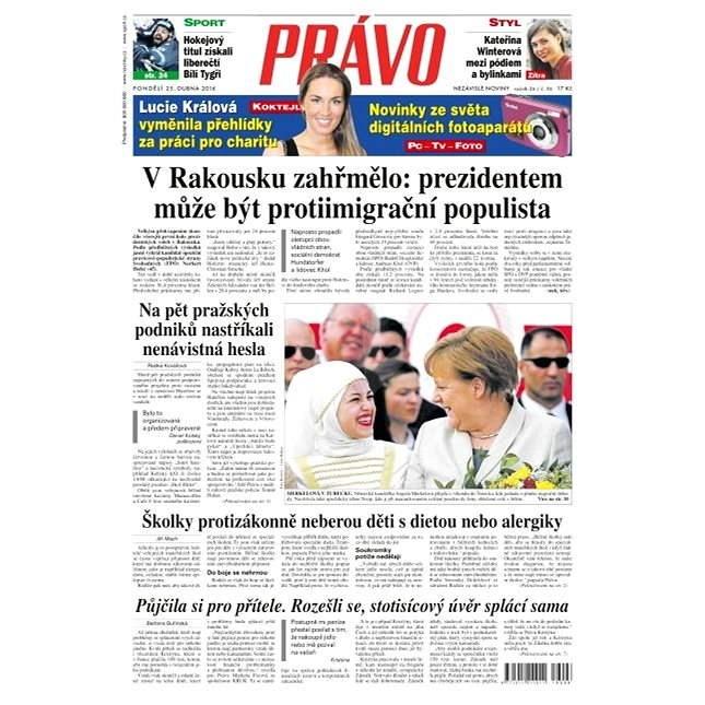 Právo - 25-04-2016 - Elektronické noviny