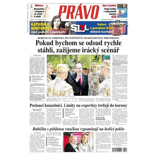 Právo - 26-04-2016 - Elektronické noviny