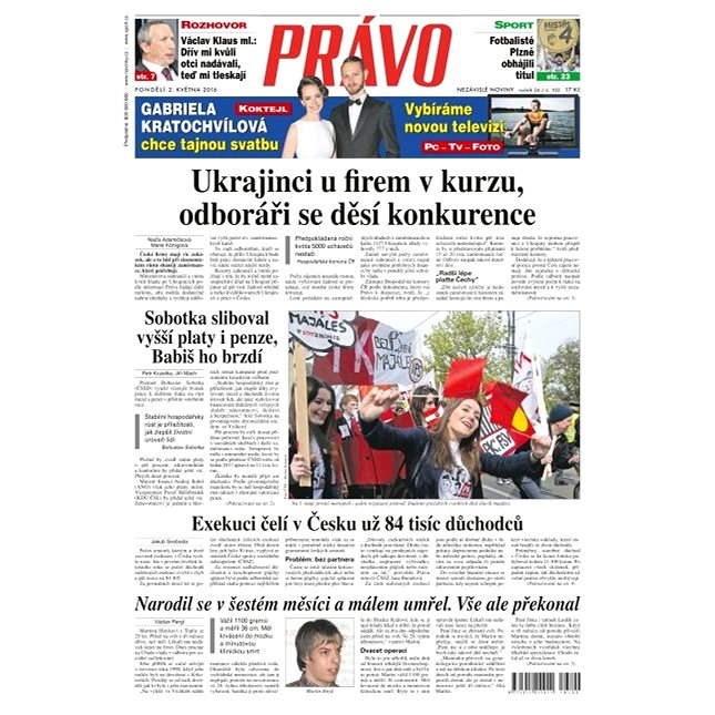 Právo - 02-05-2016 - Elektronické noviny