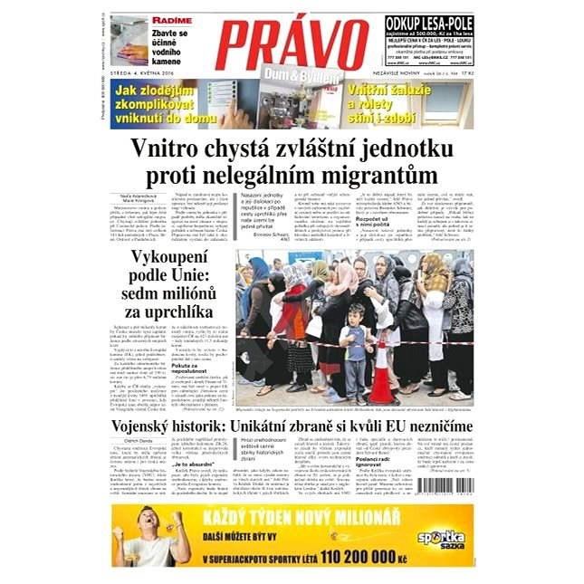 Právo - 04-05-2016 - Elektronické noviny
