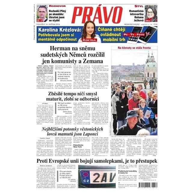 Právo - 16-05-2016 - Elektronické noviny