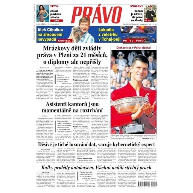Právo - 06-06-2016 - Elektronické noviny