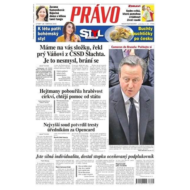 Právo - 28-06-2016 - Elektronické noviny