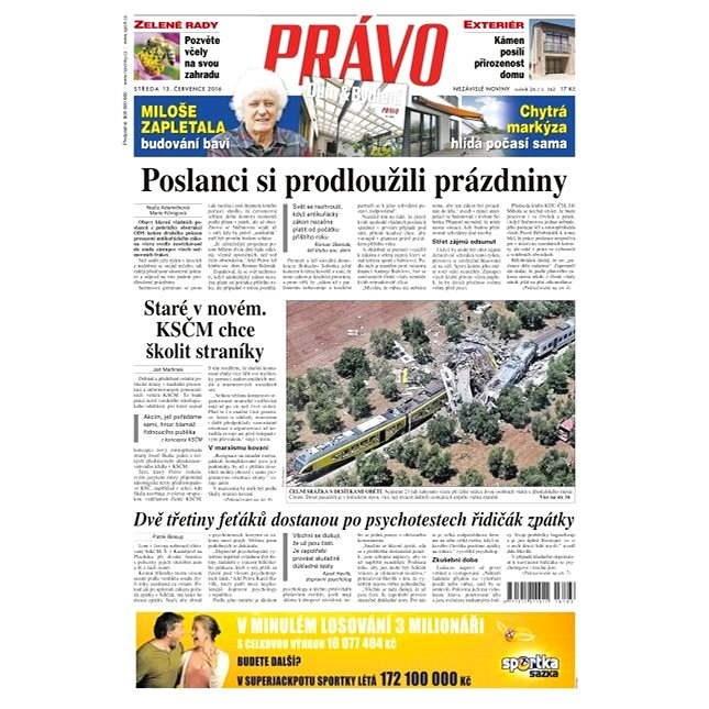 Právo - 13-07-2016 - Elektronické noviny