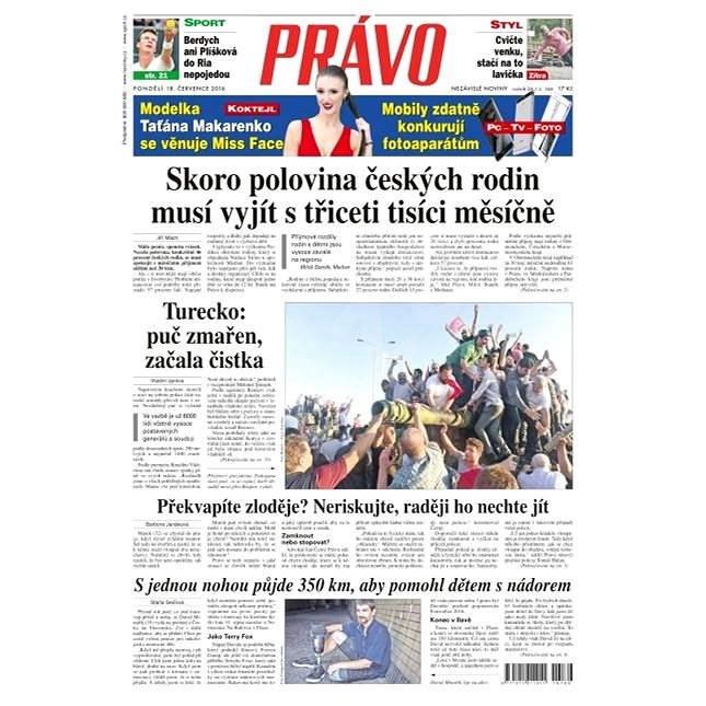 Právo - 18-07-2016 - Elektronické noviny