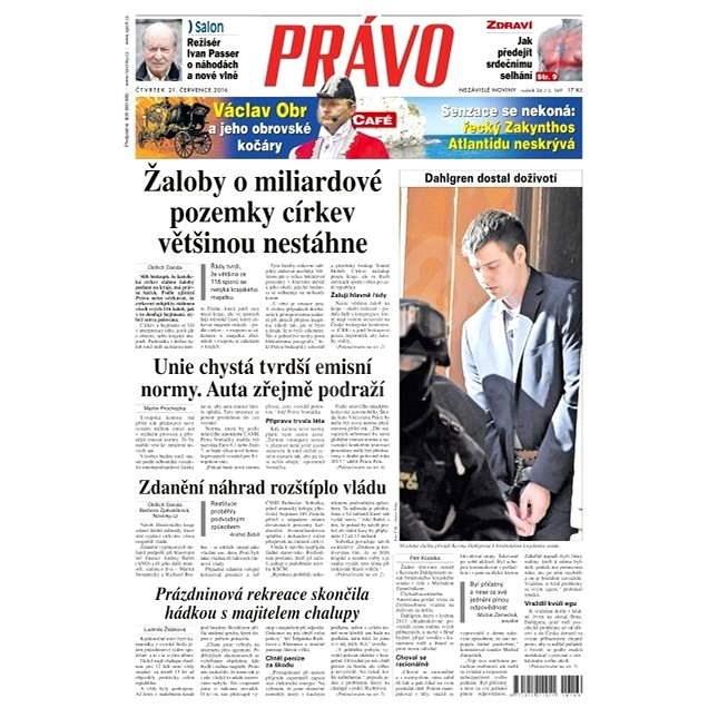 Právo - 21-07-2016 - Elektronické noviny