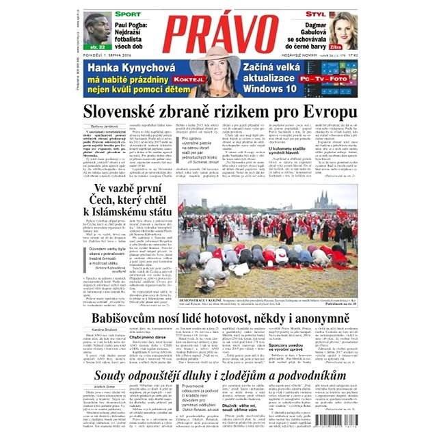 Právo - 01-08-2016 - Elektronické noviny